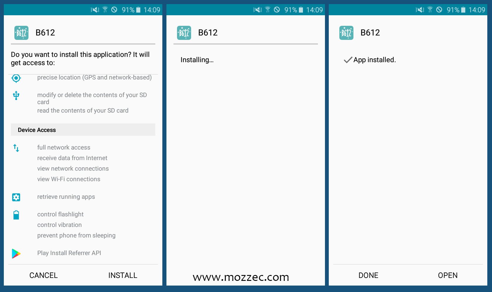 b612 apk install for android
