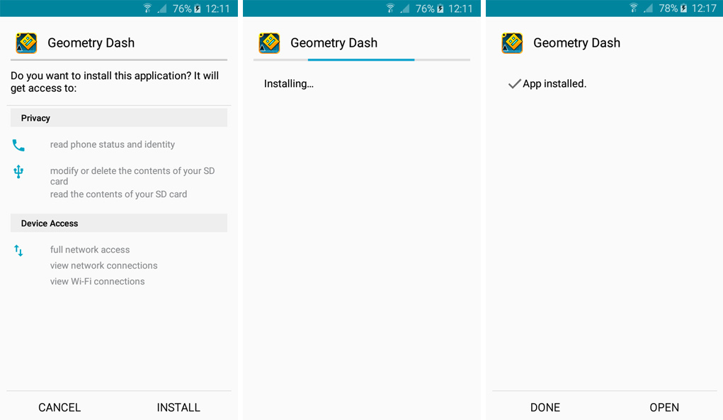 geometry dash mod for android