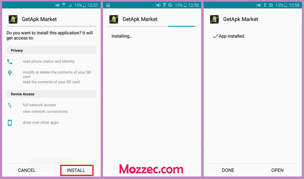 getapk market apk install