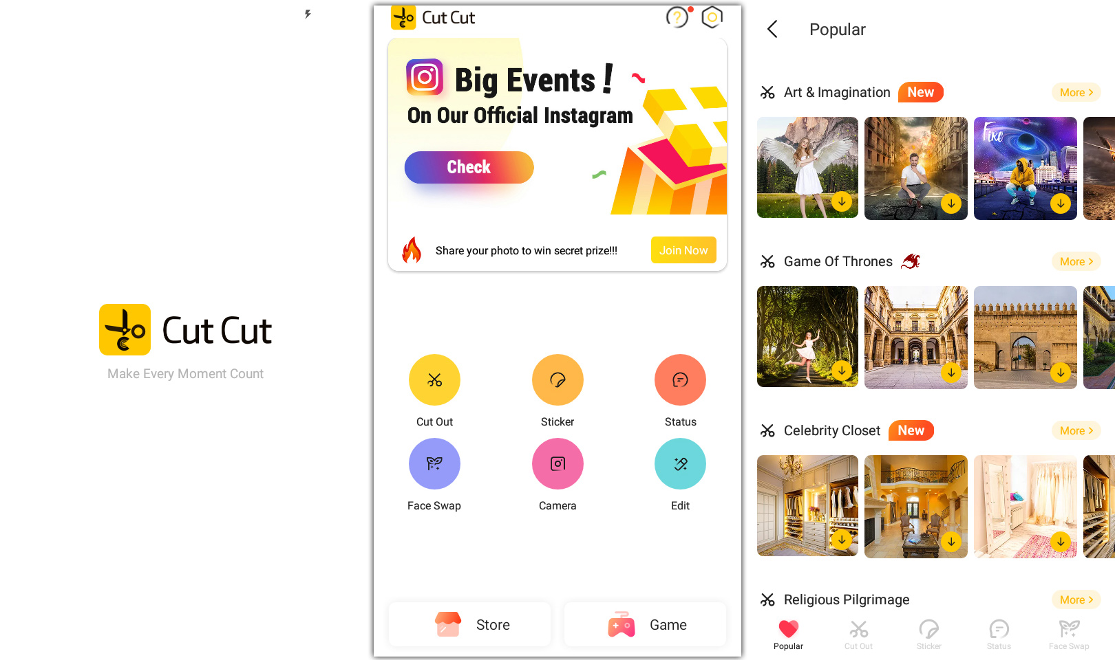 cut cut apk features