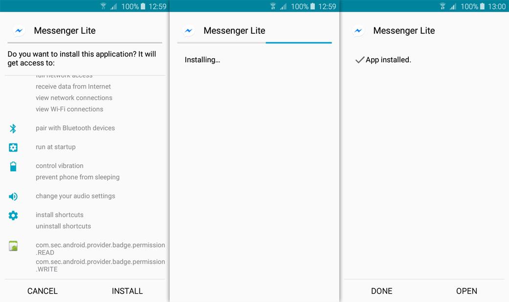messenger lite for android