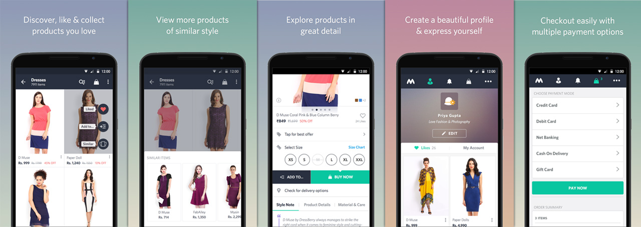 myntra apk features