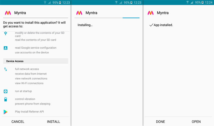 myntra apk for android