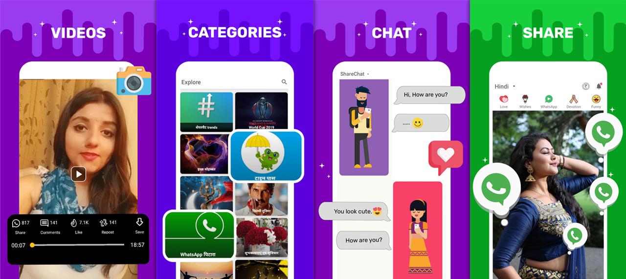 sharechat apk features