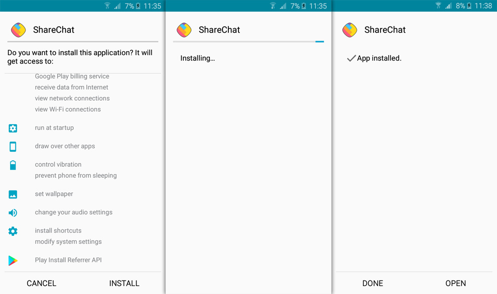 sharechat for android