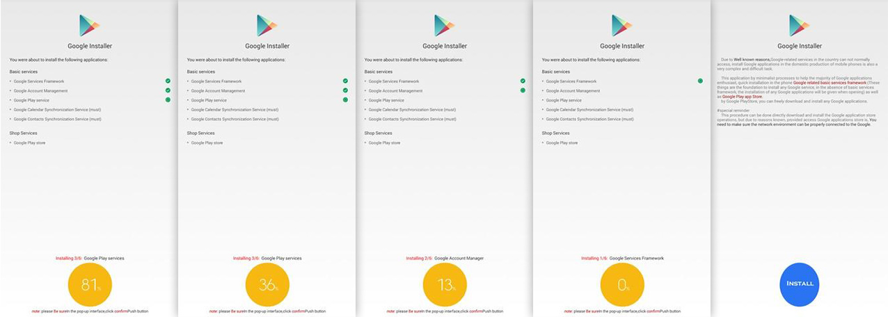 google installer apk features
