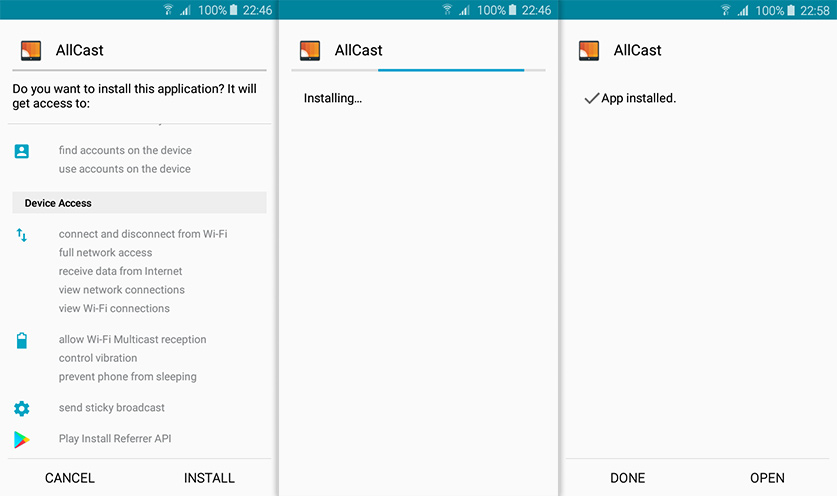 allcast for android