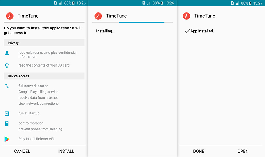 timetune for android